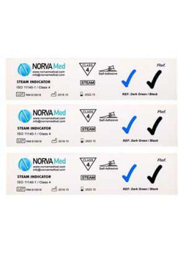 |اندیکاتور شیمیایی اتوکلاو بخار کلاس 4 Norvamed بسته 250 تایی