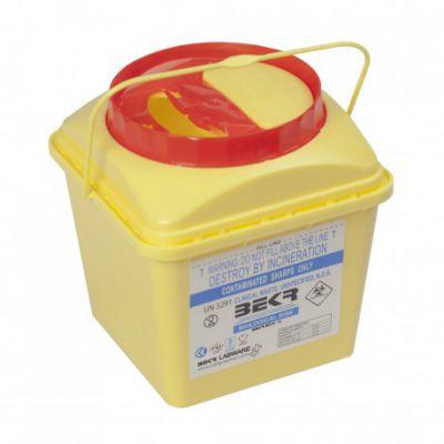 سیفتی باکس شیمیایی درب با قفل قهوه ای ۲ لیتری بکر کارتن 84 تایی