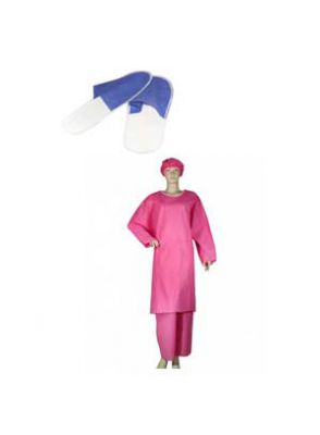 |ست گان شلوار و دمپایی زنانه 10 عددی برند بهسا مداوا طب ایرانیان